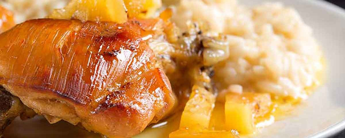 Pui cu ananas chinezesc